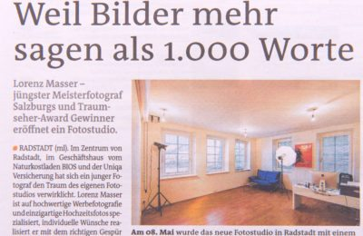 Zeitungsartikel, Studio, Fotograf Radstadt, Lorenz Masser