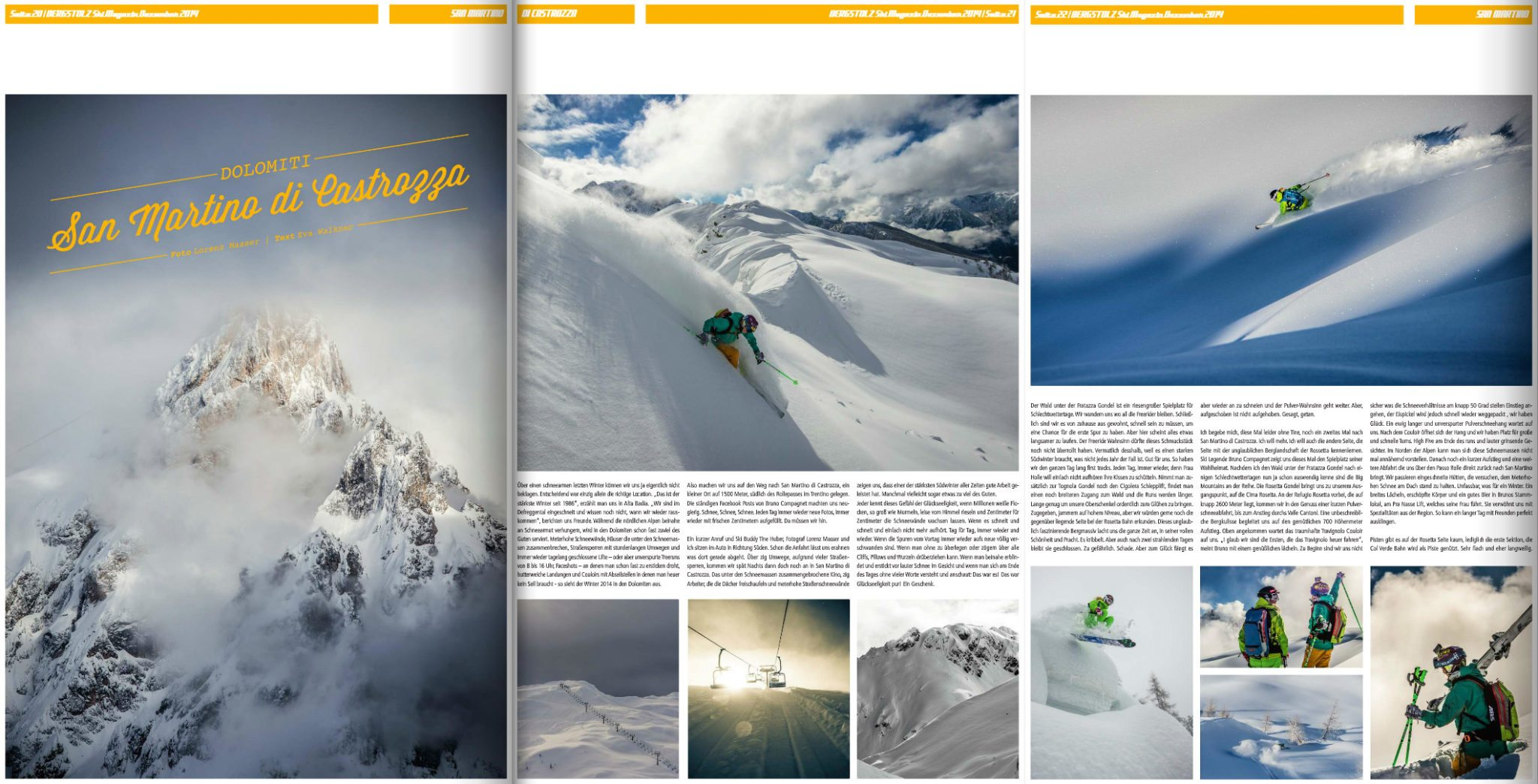 Bergstolz, San Martino, Zeitungsartikel, Fotograf Land Salzburg, Lorenz Masser