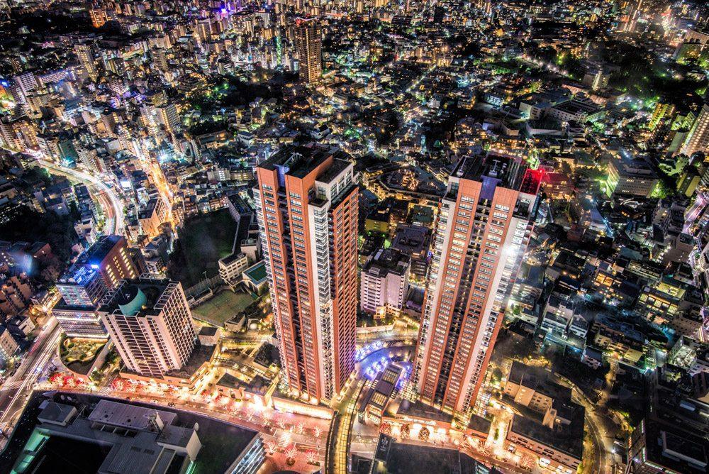 Japan, Big city, Citylights, Tokio