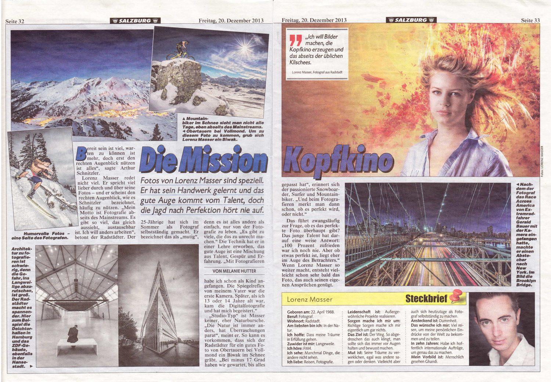 Zeitungsartikel, Kronenzeitung, Fotograf, Lorenz Masser
