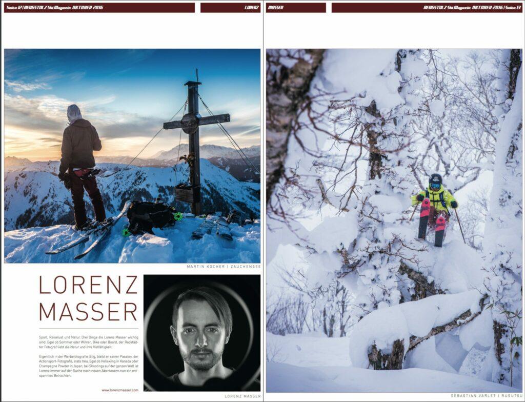 Zeitungsartikel, Lorenz Masser, Bergstolz, Fotograf Land Salzburg