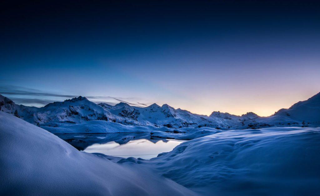 Krummschnabelsee, Obertauern, Sonnenuntergang, Berge, Winter, Landschaftsfotografie, Lorenz Masser