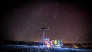Rossbrand, Radstadt, Sterne, Skitour, Gipfelkreuz, Fotograf, Lorenz Masser