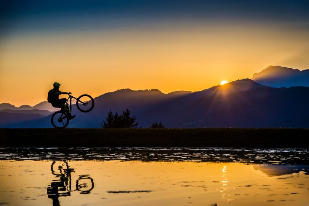 MTB Sunset Wheelie, Sportfotograf