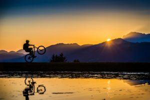 MTB Sunset Wheelie, Sportfotograf