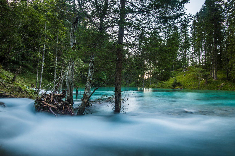 Kleinarler See Jägersee im Salzburger Land, Blaue Seen